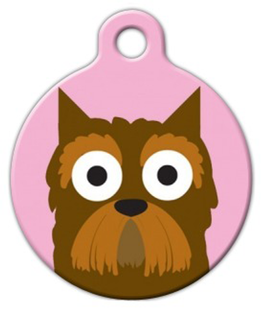 Dog Tag Art Yorkshire Terrier Girl Pet ID Dog Tag
