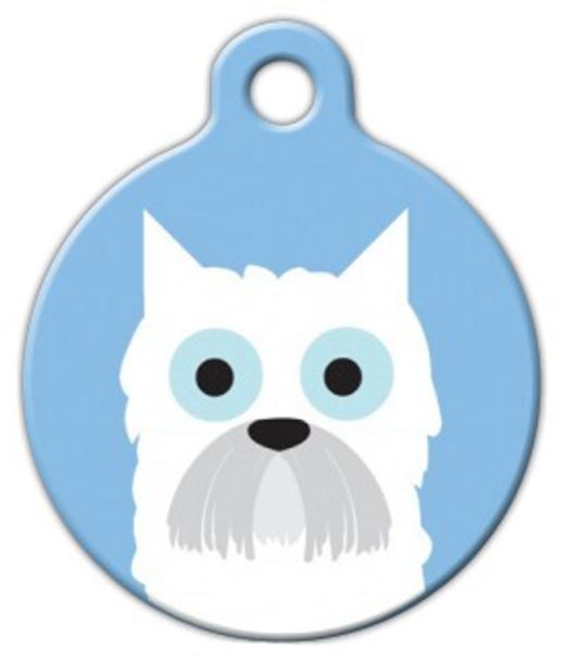 Dog Tag Art West Highland Boy Pet ID Dog Tag