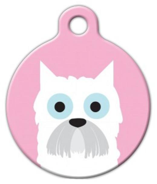 Dog Tag Art West Highland Girl Pet ID Dog Tag