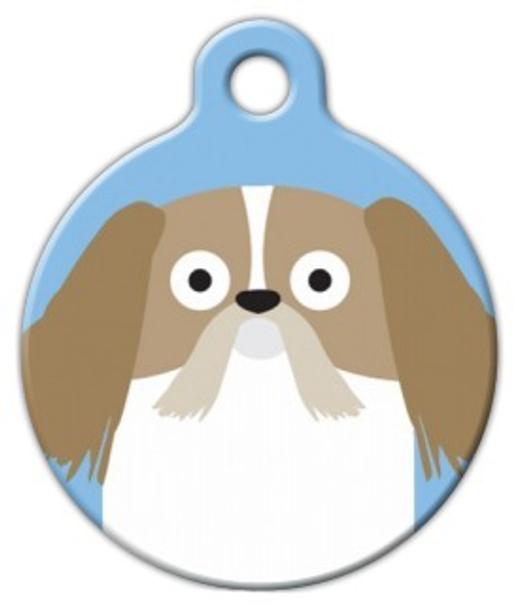 Dog Tag Art Shih Tzu Boy Pet ID Dog Tag