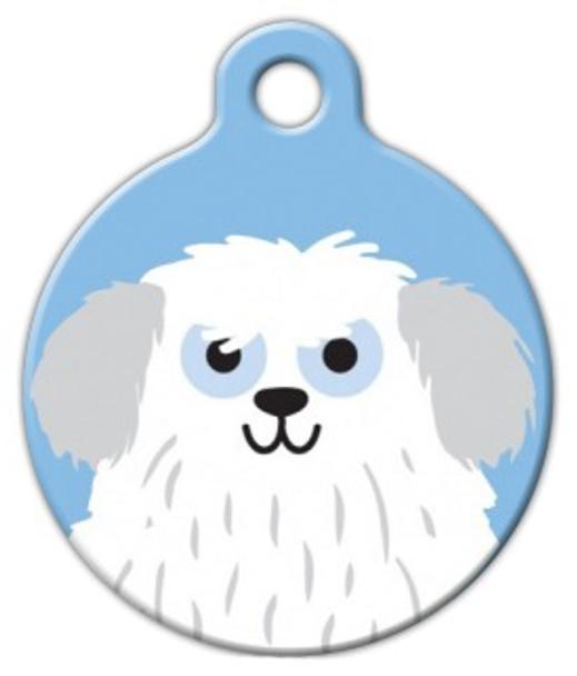 Dog Tag Art Sheep Dog Boy Pet ID Dog Tag