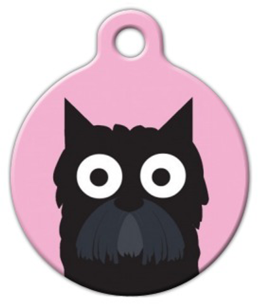 Dog Tag Art Scottish Terrier Girl Pet ID Dog Tag