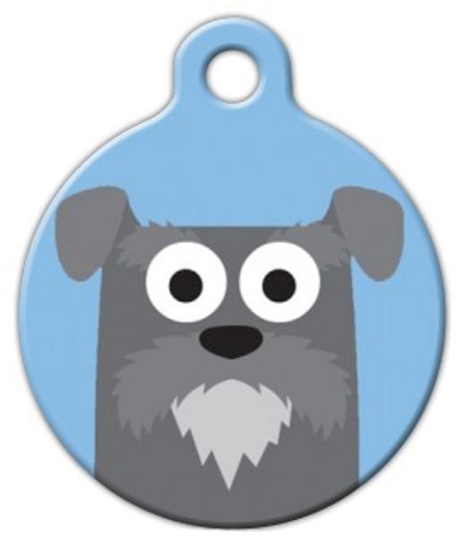 Dog Tag Art Schnauzer Boy Pet ID Dog Tag