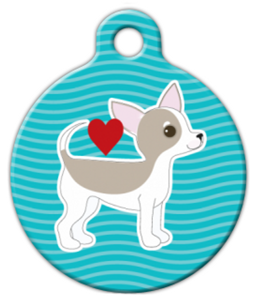Dog Tag Art Chihuahua Pup Love Pet ID Dog Tag