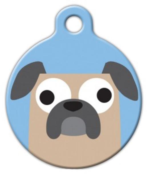 Dog Tag Art Buggy Pug Boy Pet ID Dog Tag