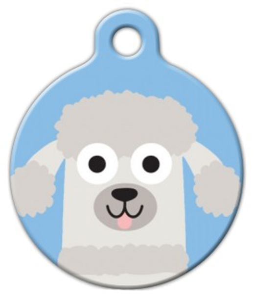 Dog Tag Art Poodle Doodle Boy Pet ID Dog Tag