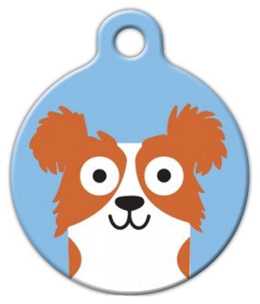 Dog Tag Art Papillon Boy Pet ID Dog Tag