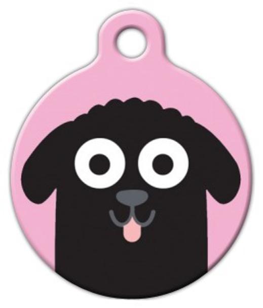 Dog Tag Art Newfoundland Girl Pet ID Dog Tag