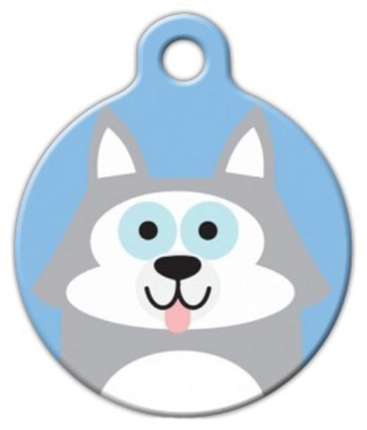 Dog Tag Art Husky Cutie Boy Pet ID Dog Tag
