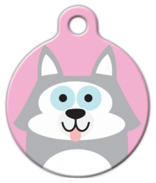 Dog Tag Art Husky Cutie Girl Pet ID Dog Tag