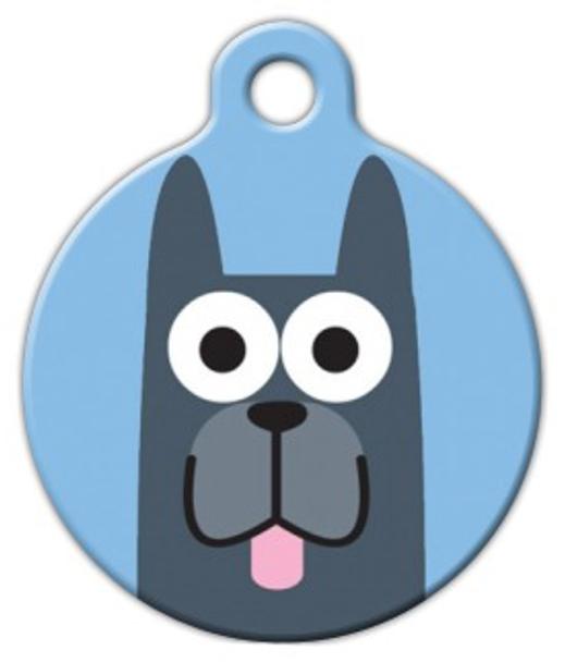 Dog Tag Art Great Dane Boy Pet ID Dog Tag