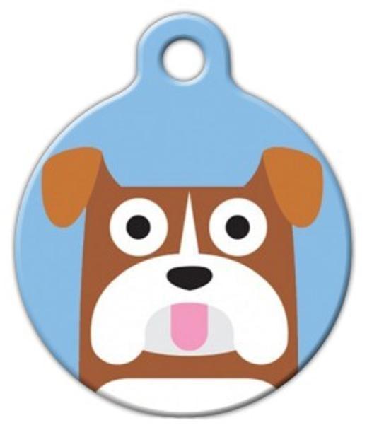Dog Tag Art Bulldog Boy Pet ID Dog Tag