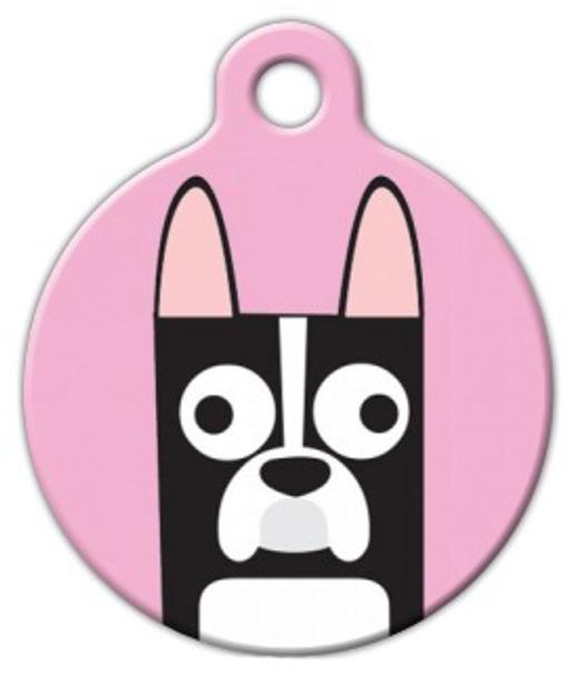 Dog Tag Art Boston Terrier Girl Pet ID Dog Tag