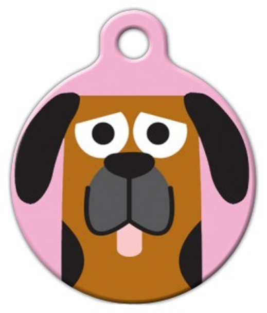 Dog Tag Art Blood Hound Girl Pet ID Dog Tag