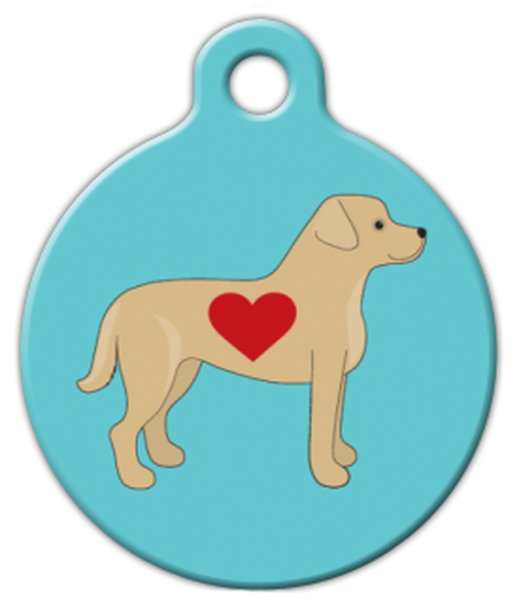 Dog Tag Art Labrador Love Pet ID Dog Tag
