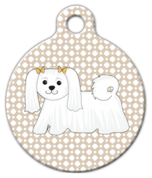Dog Tag Art Maltese Cutie Pet ID Dog Tag