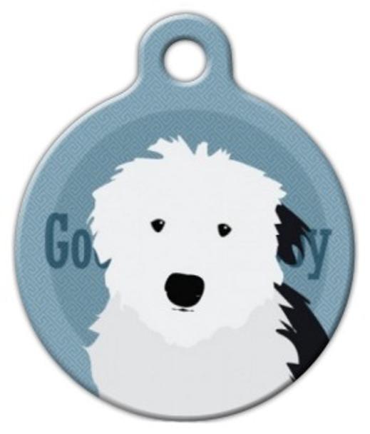 Dog Tag Art Good Boy Old English Sheepdog Pet ID Dog Tag