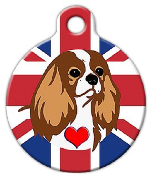 Dog Tag Art Cavalier King Charles Spaniel (Blenheim) Pet ID Dog Tag