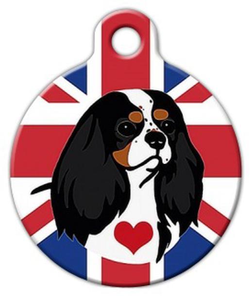 Dog Tag Art Cavalier King Charles Spaniel (Tricolor) Pet ID Dog Tag