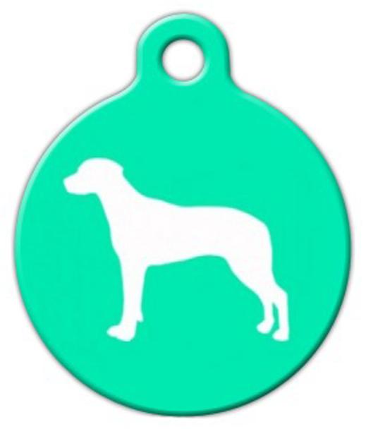 Dog Tag Art Ridgeback Silhouette Pet ID Dog Tag