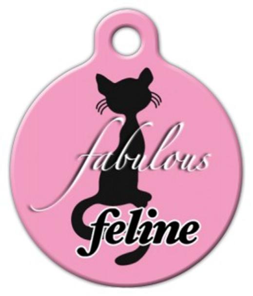 Dog Tag Art Fabulous Feline Pet ID Dog Tag