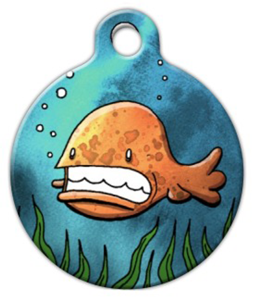 Dog Tag Art Little Orange Fish Pet ID Dog Tag