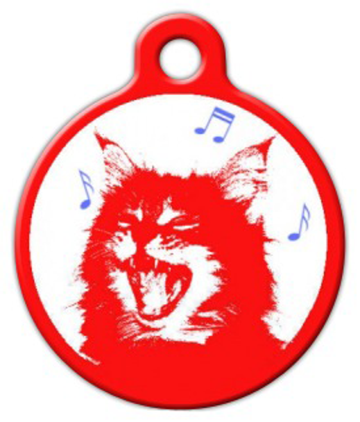 Dog Tag Art Meow Mix Pet ID Dog Tag