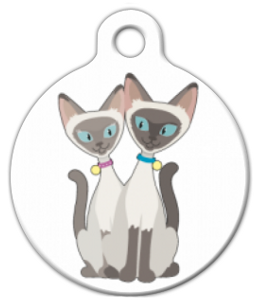 Dog Tag Art Siamese Cats Pet ID Dog Tag