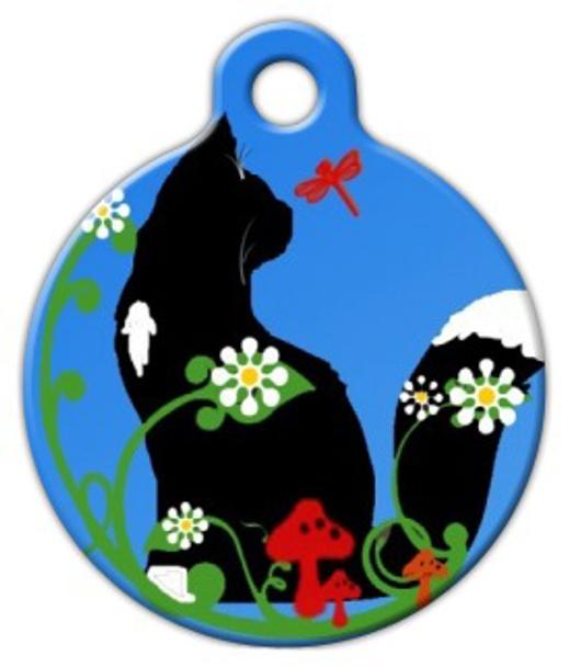 Dog Tag Art Daisy Cat Pet ID Dog Tag