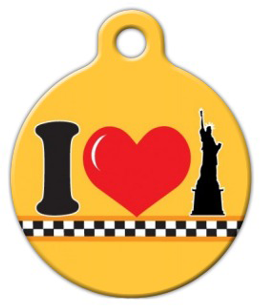 Dog Tag Art NY Love Pet ID Dog Tag