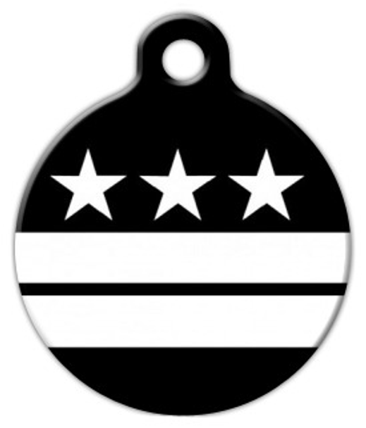Dog Tag Art Washington DC Flag Pet ID Dog Tag