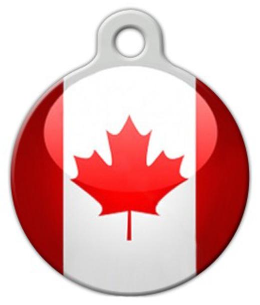 Dog Tag Art Flag of Canada Pet ID Dog Tag