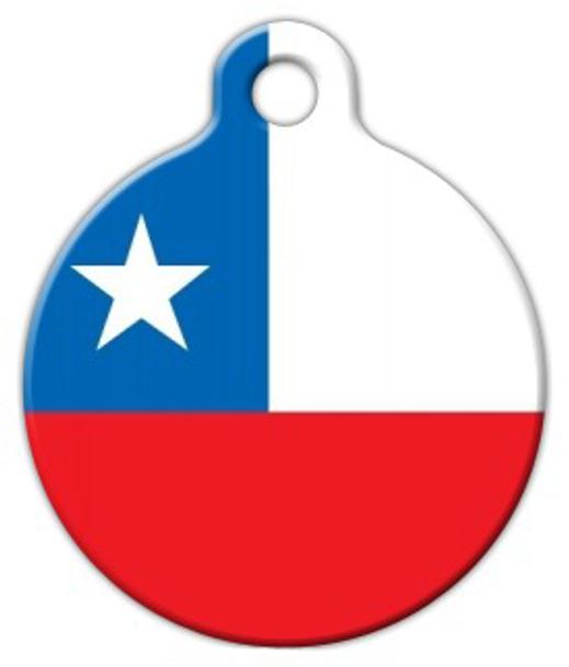 Dog Tag Art Chilean National Flag Pet ID Dog Tag