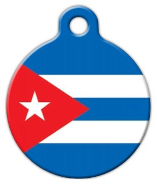 Dog Tag Art Flag of Cuba Pet ID Dog Tag