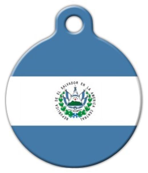 Dog Tag Art Flag of El Salvador Pet ID Dog Tag