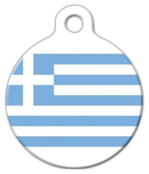 Dog Tag Art Greek National Flag Pet ID Dog Tag