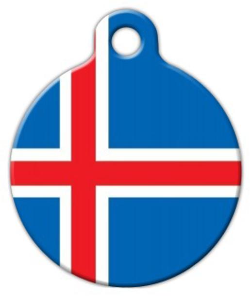 Dog Tag Art National Flag of Iceland Pet ID Dog Tag