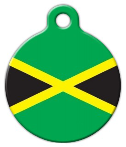 Dog Tag Art Jamaican National Flag Pet ID Dog Tag