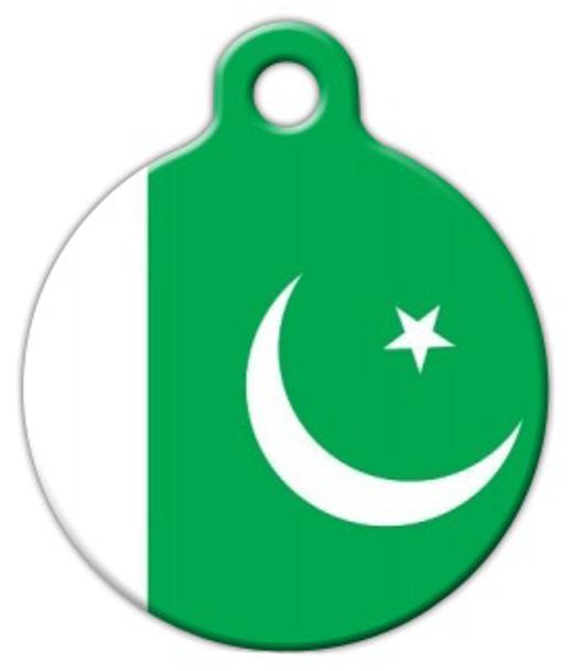 Dog Tag Art National Flag of Pakistan Pet ID Dog Tag