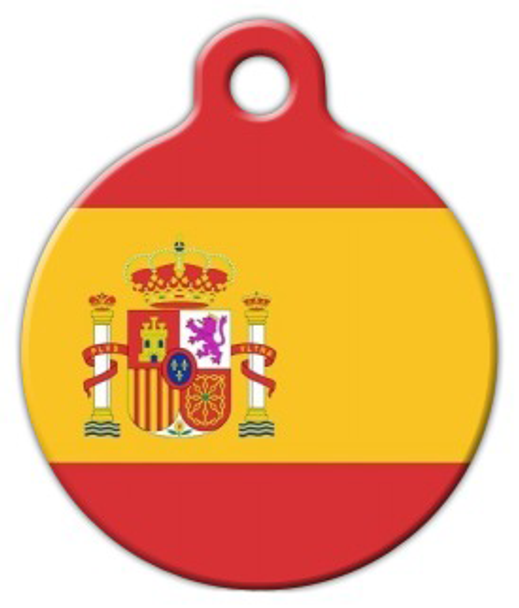 Dog Tag Art Spanish National Flag Pet ID Dog Tag