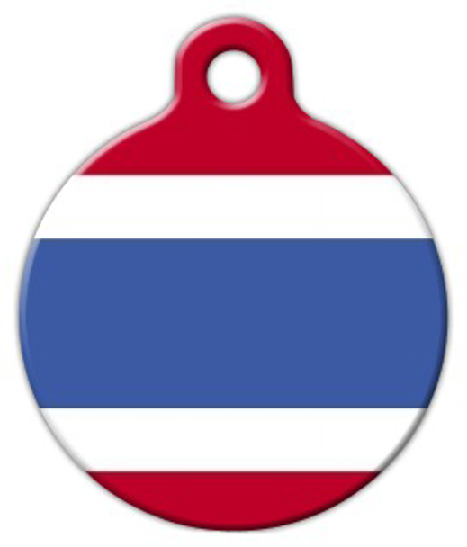 Dog Tag Art Official Flag of Thailand Pet ID Dog Tag