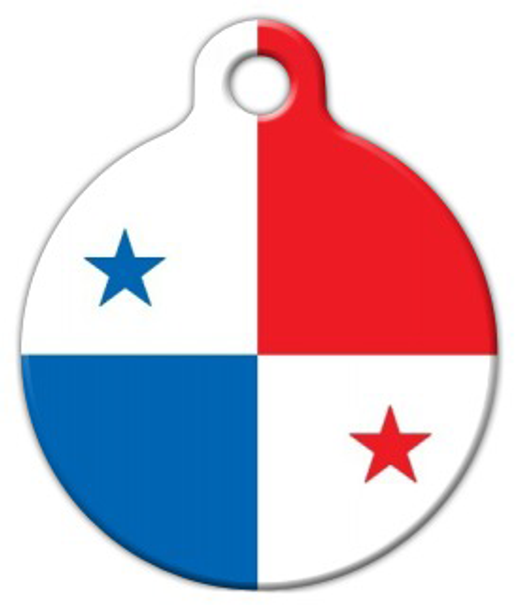 Dog Tag Art Panama National Flag Dog Pet ID Dog Tag