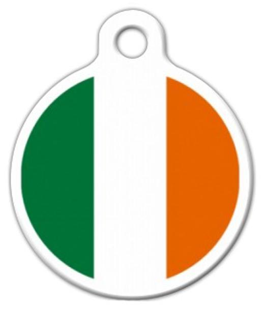 Dog Tag Art Ireland Flag Pet ID Dog Tag