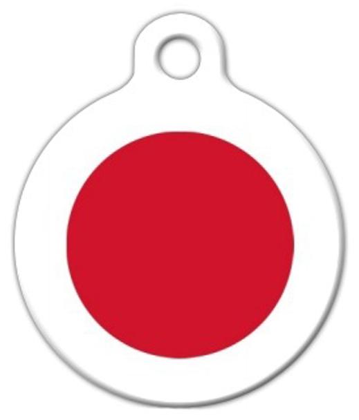 Dog Tag Art National Flag of Japan Pet ID Dog Tag