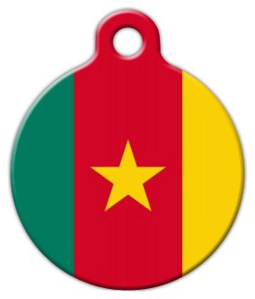 Dog Tag Art National Flag of Cameroon Pet ID Dog Tag
