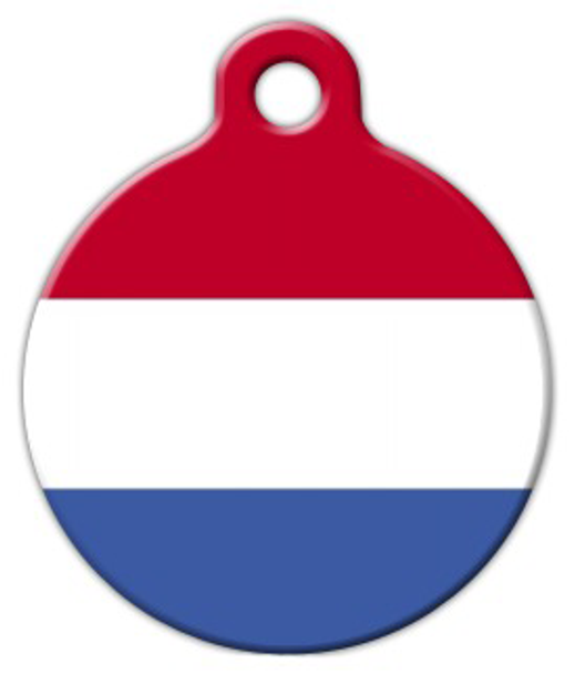 Dog Tag Art Flag of the Netherlands Pet ID Dog Tag