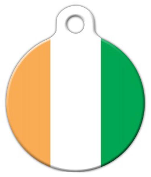 Dog Tag Art Ivory Coast Flag Pet ID Dog Tag