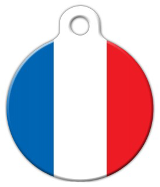 Dog Tag Art National Flag of France Pet ID Dog Tag