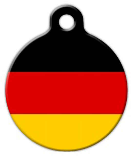 Dog Tag Art National Flag of Germany Pet ID Dog Tag