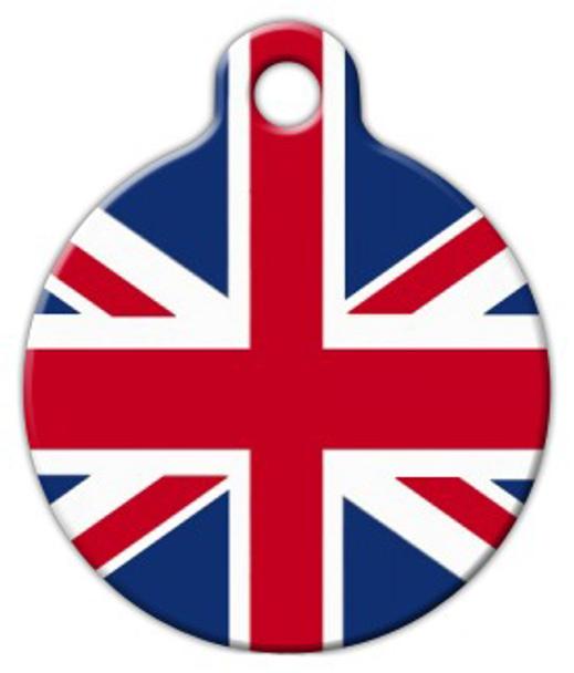 Dog Tag Art British Flag Pet ID Dog Tag